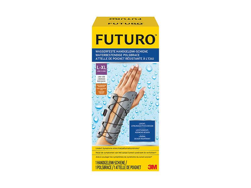 FUTURO VODĚODOLNÁ ZÁPĚSTNÍ ORTÉZA, LEVÁ, L-XL