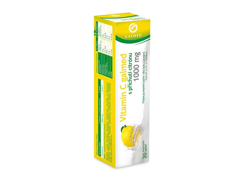 Vitamin C 1000 mg citron eff tbl 20
