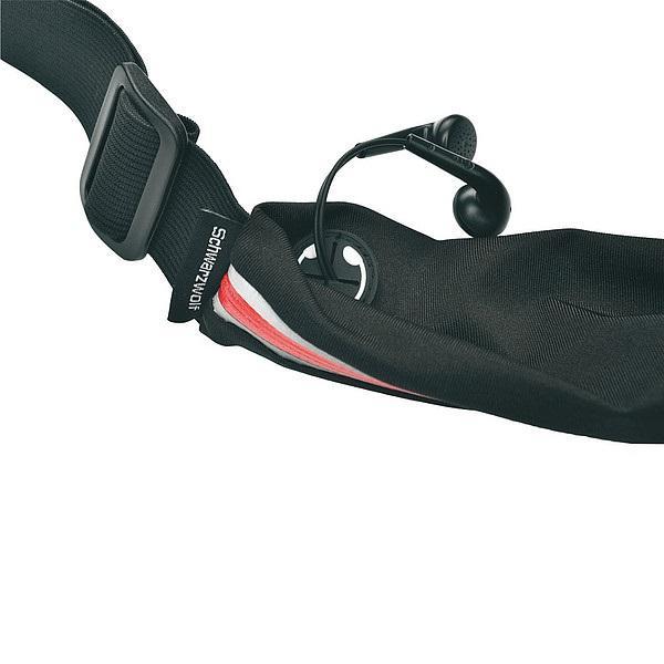 SCHWARZWOLF RAVIK multifunkční elastický pás s kapsou,červený