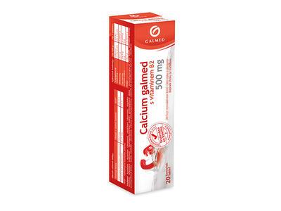 Calcium 500 Galmed tbl eff 20x500mg (Vitar)